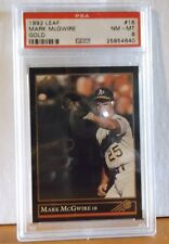 1992 Leaf #16 - MARK McGWIRE - GOLD - PSA 8 NM - MT