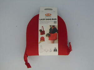 UNITED PETS MILANO LAZY DOG BAG FOLDABLE DOG CARRIER 11 LBS MAX RED