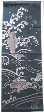 Japanese Cotton Tenugui  Tapestry  KOI  Crab   MEOTO KOI    Made in Kyoto Japan