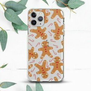 Gingerbread Man Christmas Candy Case For iPhone 7 8 X SE 11 12 13 Pro Max XR