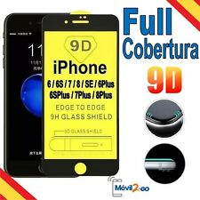 PROTECTOR COMPLETO PANTALLA DE CRISTAL TEMPLADO PARA IPHONE 6 7 8 S o PLUS SE 9D