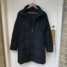 Womens Sisley Coat Puffa Black Long Zip Up Medium UK 8 - 10 Funnel Neck Padded