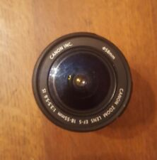 Canon EF-S 18-55mm 3.5-5.6 II Zoom Lens.