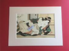 Japanese Reproduction Print  SHUNGA # Erotic Cream Mounted on Parchment Paper