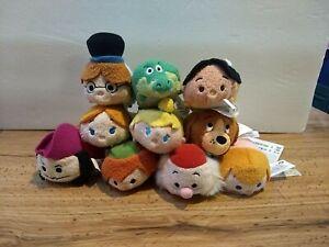 Disney Plush Tsum Tsum Mini Peter Pan Complete Set of 10 from Europe