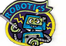 """""""ROBOTICS - IRON ON EMBROIDERED APPLIQUE PATCH - LEARNING -  SCHOOL - RESEARCH"""