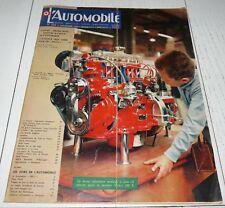 L'AUTOMOBILE 11/1959 N°163 SALON PARIS FRANCFORT LONDRES CORVAIR MOTO MV BUS VW