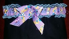 Alice in wonderland wedding garter burlesque garter blue lace new