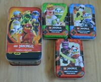 Lego Ninjago™ Serie 5 Trading Card Game alle 4 Tin Dosen leer Mini Tin