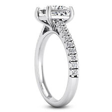 Solitaire with Accents 1.26 Carat Princess Diamond Engagement Ring Enhanced