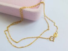 Real Fine Solid 18K Yellow Gold New Women Singapore Chain Necklace/ 0.7-1g
