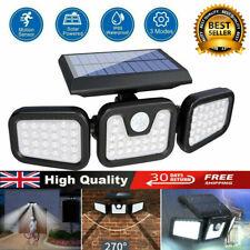 More details for 74led solar powered pir motion sensor lamp outdoor garden security wall light