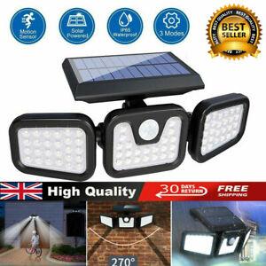 74LED Solar Powered PIR Motion Sensor Lamp Outdoor Garden Security Wall Light