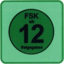 FSK 12 LABELS 100 Stück - (Label) - STICKER - 3,46 x 3,46 cm für DVD und Blu-ray