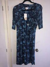 east John Lewis Stunning Blue Wrap Dress Size 10 and 12 UK Viscose