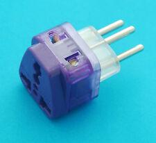 Universal USA AUS EURO UK to Swiss Switzerland AC Power Plug Adapter Dual Ports