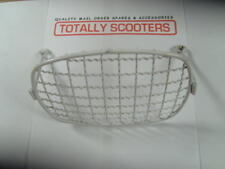 VESPA 50 SPECIAL HEAD LAMP GRILL or STONE GUARD in WHITE METAL - NOS 1980's V50S