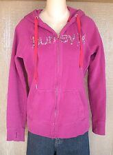 Hurley M Pink Zip Front Juniors Hooded Jacket Sweatshirt Top