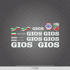 01166 Gios Bicycle Stickers - Decals - Transfers