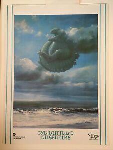 Syd Dutton, Creature Godzilla, Vintage Rare Poster Print, 1983 Hollywood