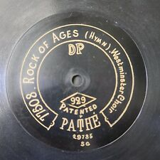 """12"""" 78rpm PATHE 929 WESTMINSTER CHOIR rock of ages / lead kindly knight"""