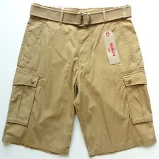 Levi's NEW nwd $56.00 Khaki Beige Brown Snap Cargo Casual Shorts with Belt sz 30