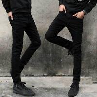 Men's Stretch Fit Fashion Jeans Skinny Denim Straight Leg Pants Slim Trousers