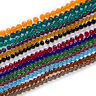 50 Piece Crystal Glass 96 Cut Faceted Spacer Beads Jewelry Making 6-10mm