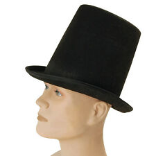VICTORIAN BLACK #STOVEPIPE TOP HAT ADULT FORMAL OUTFIT ACCESSORY FANCY DRESS