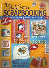 PASSION SCRAPBOOKING N°09 SCRAP EUROPEEN / SCRAP AMERICAIN / + DE 20 MODELES
