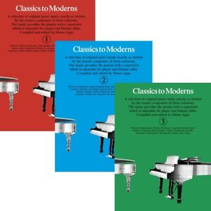 Classics to Moderns - Classical Piano Songbook - Options Book 1,2,3