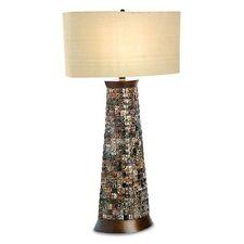 Nib Palecek Transitional Leopard Shell Table Lamp 296833 Msrp $816