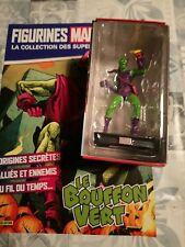 figurine marvel,collection super heros  n 10( le bouffon vert ) boite +livret