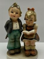 "NAPCO Girl with Open Book Boy Figurine ""TUTORING"" ~ #AH1G Vintage Japan"