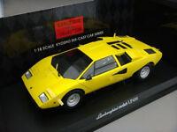 1:18 Kyosho Lamborghini Countach Lp400 Amarillo - Amarillo 08321y - Rareza