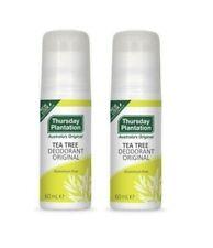 2 x Thursday Plantation Tea Tree Deodorant Original 60mL Aluminium free