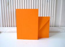 10 Doppelkarten Klappkarten A6 orange 210/120 g/m² + Kuverts