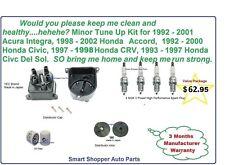 Tune Up Kit for 1992-2001 Integra, 1998  Honda Accord CRV Civic Spark Plug, roto