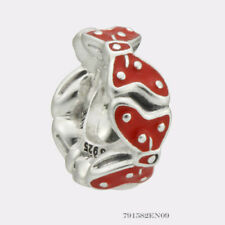 Authentic Pandora Silver Disney Minnie Bow Red Enamel Spacer 791582EN09