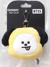 Genuine & Official BTS BT21 Plush Doll Face Key Clip Keyring KPOP Merch Chimmy