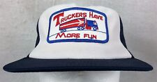 Truckers Have More Fun Trucker Hat Ball Cap Snapback Mesh Harvard USA One Size