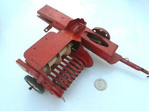 early 1960's TRU-SCALE- Hay Baler -Red Metal Farm Toy Pressed Steel