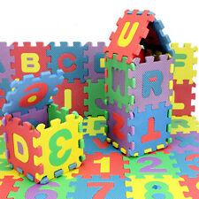 36Pcs Kids Alphabet Number Play Mat Foam Puzzle Jigsaw Blocks Educational Toy