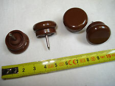 8 pads chair furniture shock absorbers 23 mm baseplate plastic brown