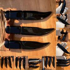 natural crazy obsidian antique carving gimmick dagger collection souvenirs 1pcs