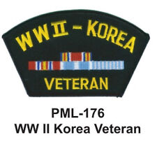 "4"" NEW WW II KOREA VETERAN-Embroidered Military Large Patch"