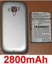 Shell +. Battery 2800mAh type BA S390 RHOD100 RHOD160 For HTC Touch Pro 2