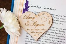 Save The Dates. 40 rustic  Wooden Save The Date Tags. Engraved Hearts. Wedding