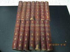 1899 WORKS OF LADY JACKSON (CATHERINE CHARLOTTE) EDITION DE LUXE 14 VOLS LEATHER