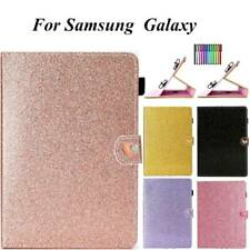 Glitter PU Leather Universal Case Cover For Samsung Galaxy Tablet 10.1 10.5 9.7